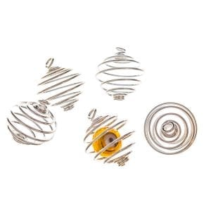 Bead Cage 22mm Silver Plate Pack of 5