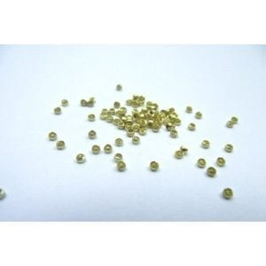 Beads Crimp Gilt 2mm (100)