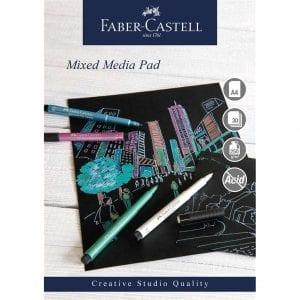 A4 Creative Studio Mixed Media Pad 250gsm 30 Sheets - Black