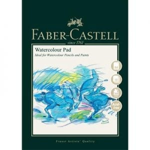 A4 Watercolour Pad 300gsm 10 Sheets - Spiral Bound