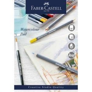 A5 Creative Studio Watercolour Pad Spiral 190gsm 15 Sheets