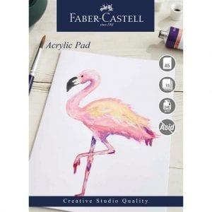A5 Creative Studio Acrylic Pad Gummed 240gsm 15 Sheets