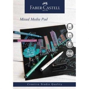 A5 Creative Studio Mixed Media Pad 250gsm 30 Sheets - Black