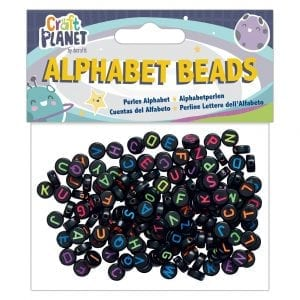 Alphabet Beads (160pcs) - Black Small