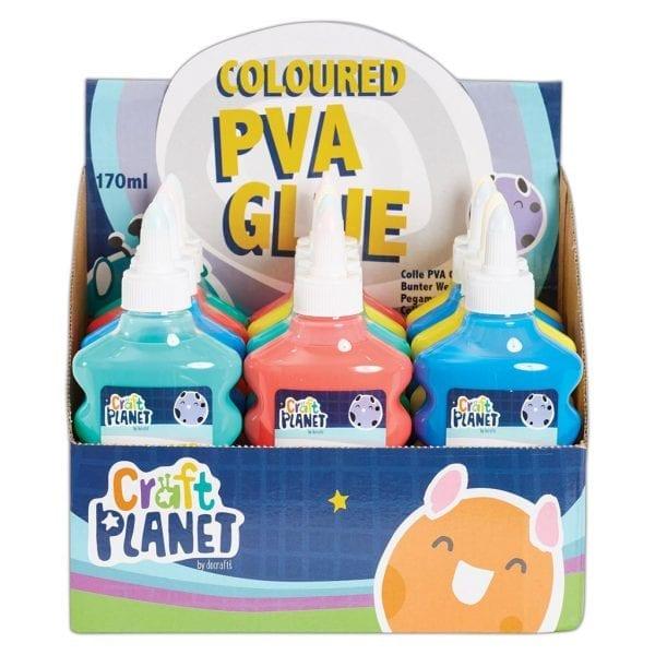 Coloured PVA Glue (6 fl oz 170ml) CDU (12pcs)