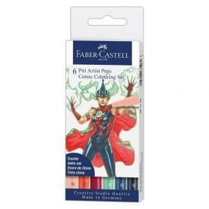 Comic Illustration Pen Set - Colours (pk6)