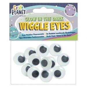 Glow-In-The-Dark Wiggle Eyes (12pcs)