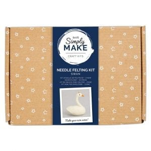 Needle Felting Kit - Simply Make - Swan
