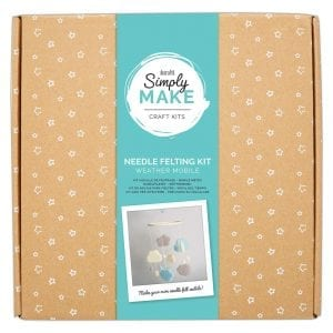 Needle Felting Kit - Simply Make - Weather Mobile Blue