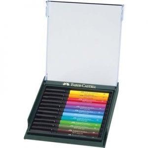 PITT Artist Brush Pen Set of 12 Intensive Colours