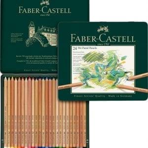 Tin of 24 Pitt Pastel Pencils