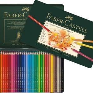 Tin of 36 Polychromos Artists' Pencils-1