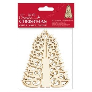 3D Wooden Filigree Tree - Create Christmas