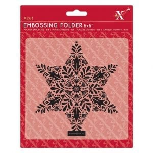 6x6 Embossing Folder - Foliage Star