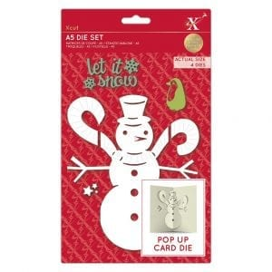 A5 Dies - Pop Up Card - Snowman