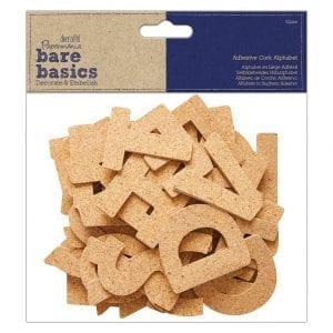 Adhesive Cork Alphabet (52pcs) - Bare Basics