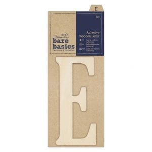 Adhesive Wooden Letter E (1pc)