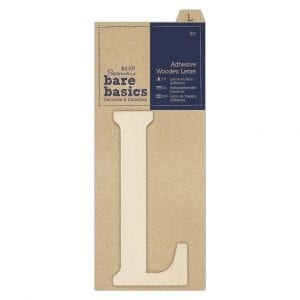 Adhesive Wooden Letter L (1pc)