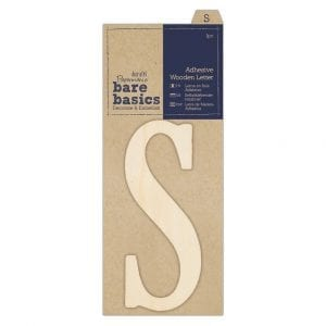 Adhesive Wooden Letter S (1pc)