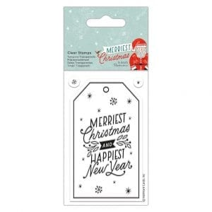 Clear Stamps - Merriest Christmas - Gift Tag