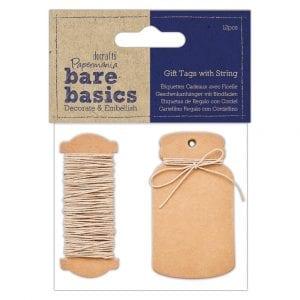 Gift Tags with String (12pk) - Bare Basics - Mini Bottle