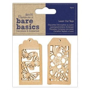 Laser Cut Tags (4pcs) - Bare Basics
