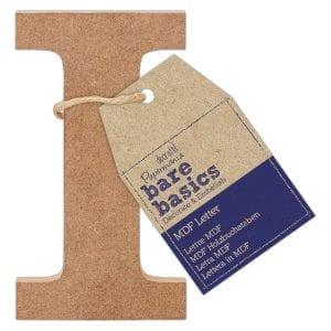 MDF Letter (1pc) - Bare Basics - I