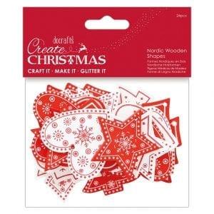 Nordic Wooden Shapes (24pcs) - Create Christmas
