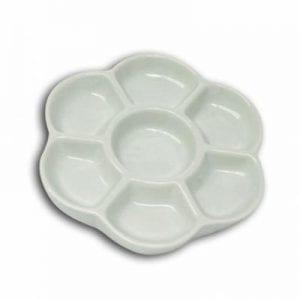 Porcelain Daisy Dish 6 7 well