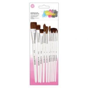 Watercolour Paint Brush Set (10pk)