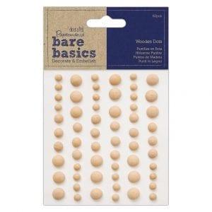 Wooden Dots (60pcs) - Bare Basics - Light