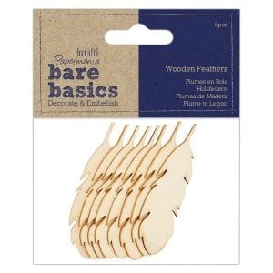 Wooden Feathers (8pcs) - Bare Basics