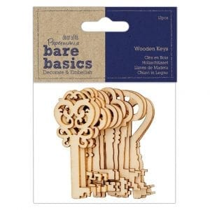 Wooden Keys (12pcs) - Bare Basics