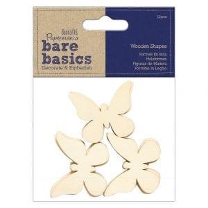 Wooden Shapes (12pcs) - Butterfly - Bare Basics