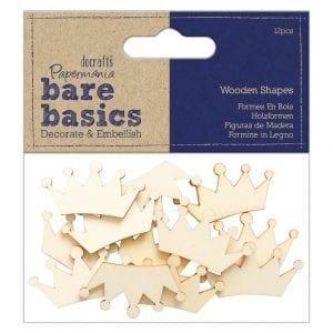Wooden Shapes (12pcs) - Crown - Bare Basics