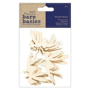 Wooden Shapes (12pcs) - Fairy - Bare Basics