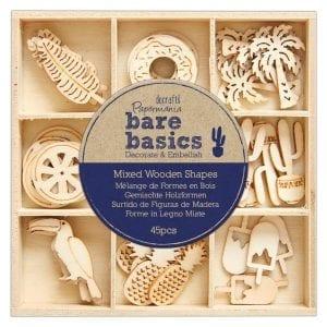 Wooden Shapes (45pcs) - Bare Basics - Tropical