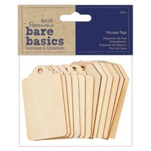 Wooden Tags (12pcs) - Bare Basics