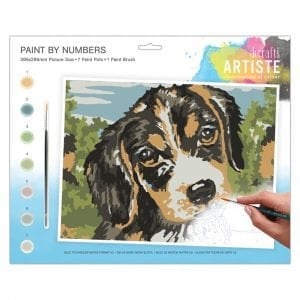 dog paint by numbers kit